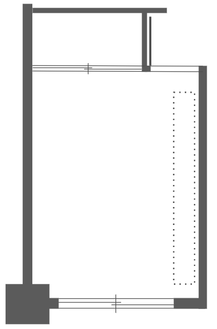 寝室平面図