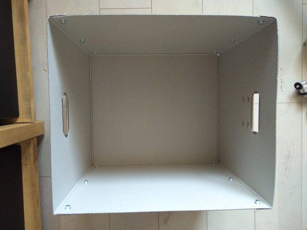 紙箱(上から見たところ)