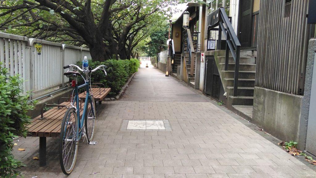 目黒川沿いの遊歩道