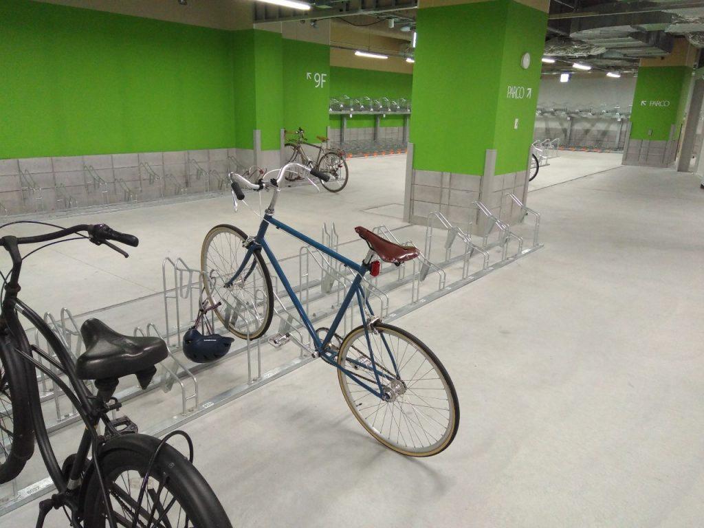 パルコ8階の駐輪場