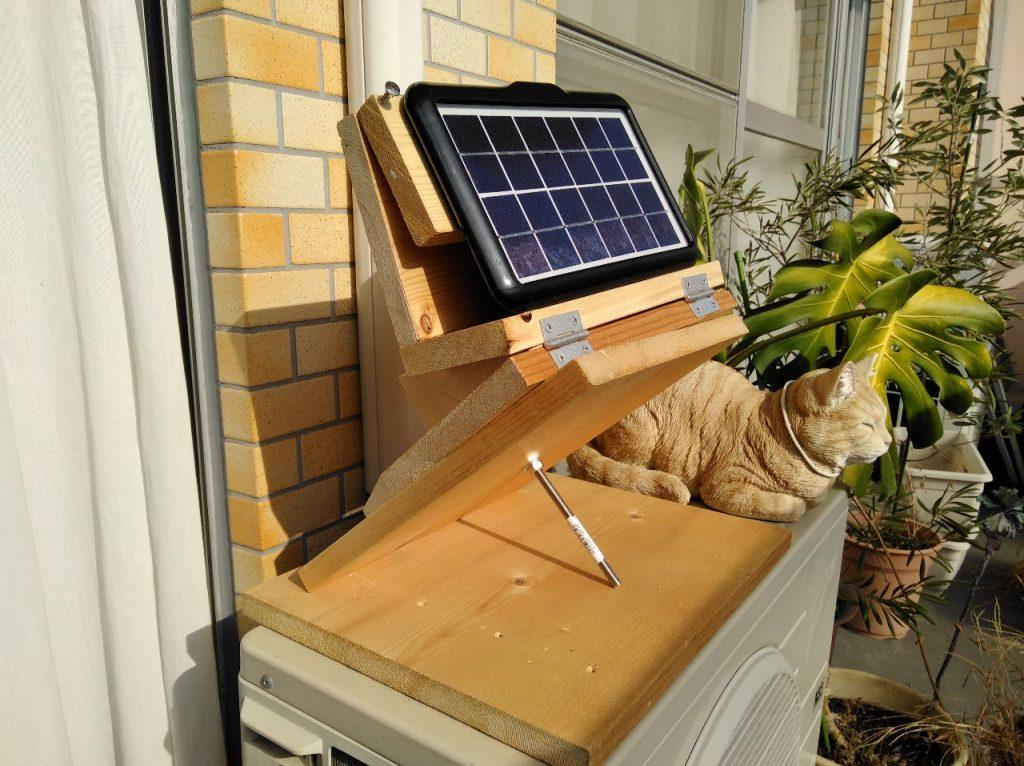 赤道儀型手動太陽追尾装置