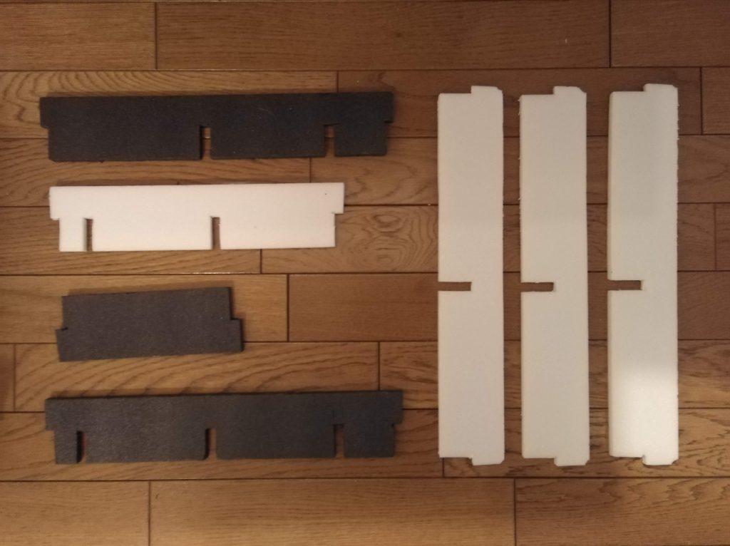 切り欠きを入れた仕切り板