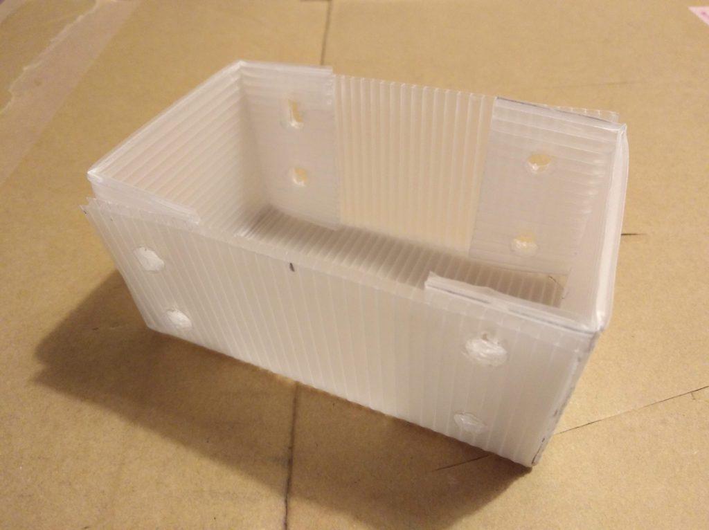 試作した箱
